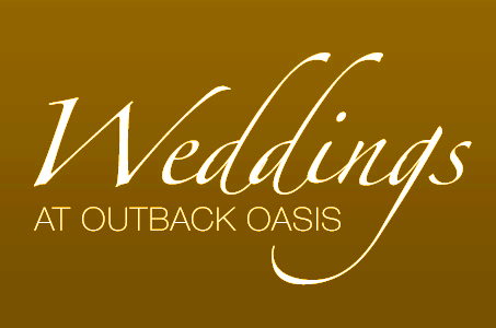Outback Oasis Weddings Slider Title
